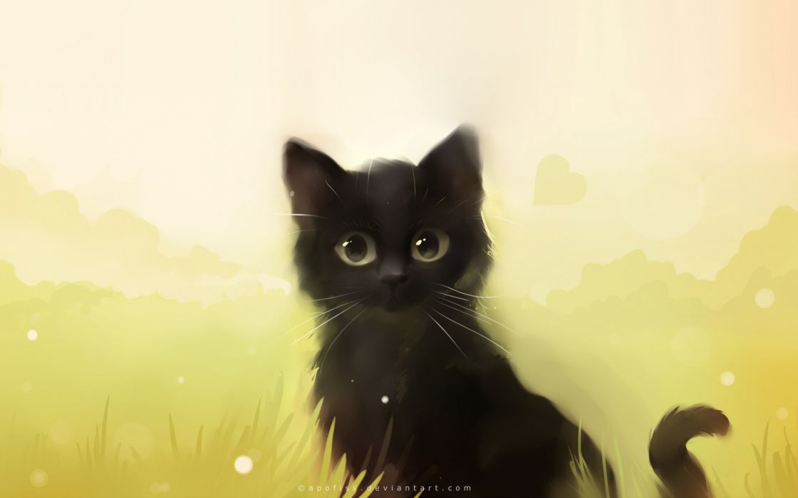 Cats animals feline artwork kittens apofiss cats (drawn) wallpaper