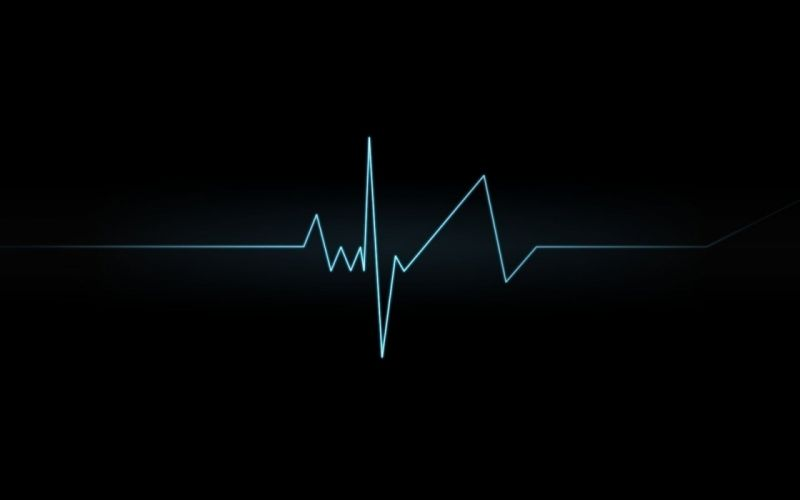 Lines heart beat wallpaper