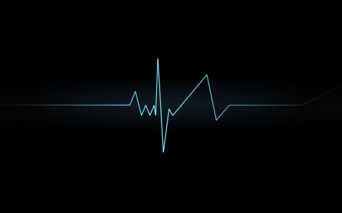 Lines heart beat wallpaper