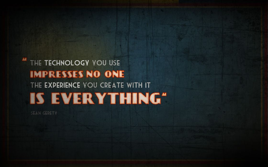 Text quotes typography technologic technical wallpaper