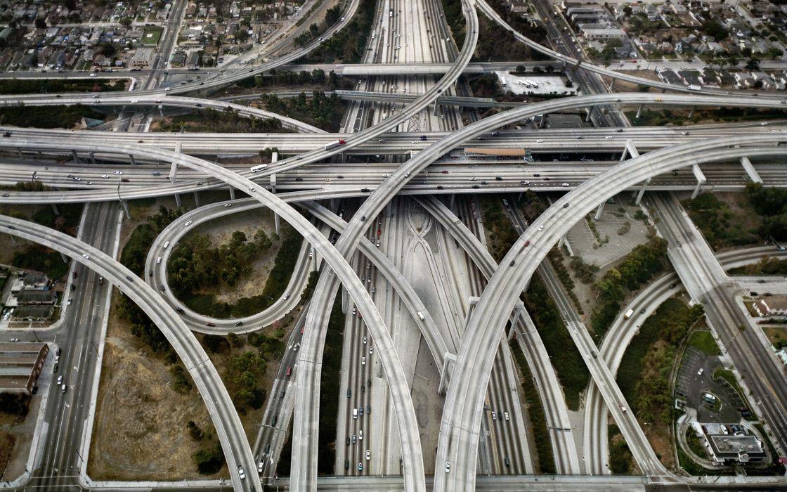 Highway roads wallpaper
