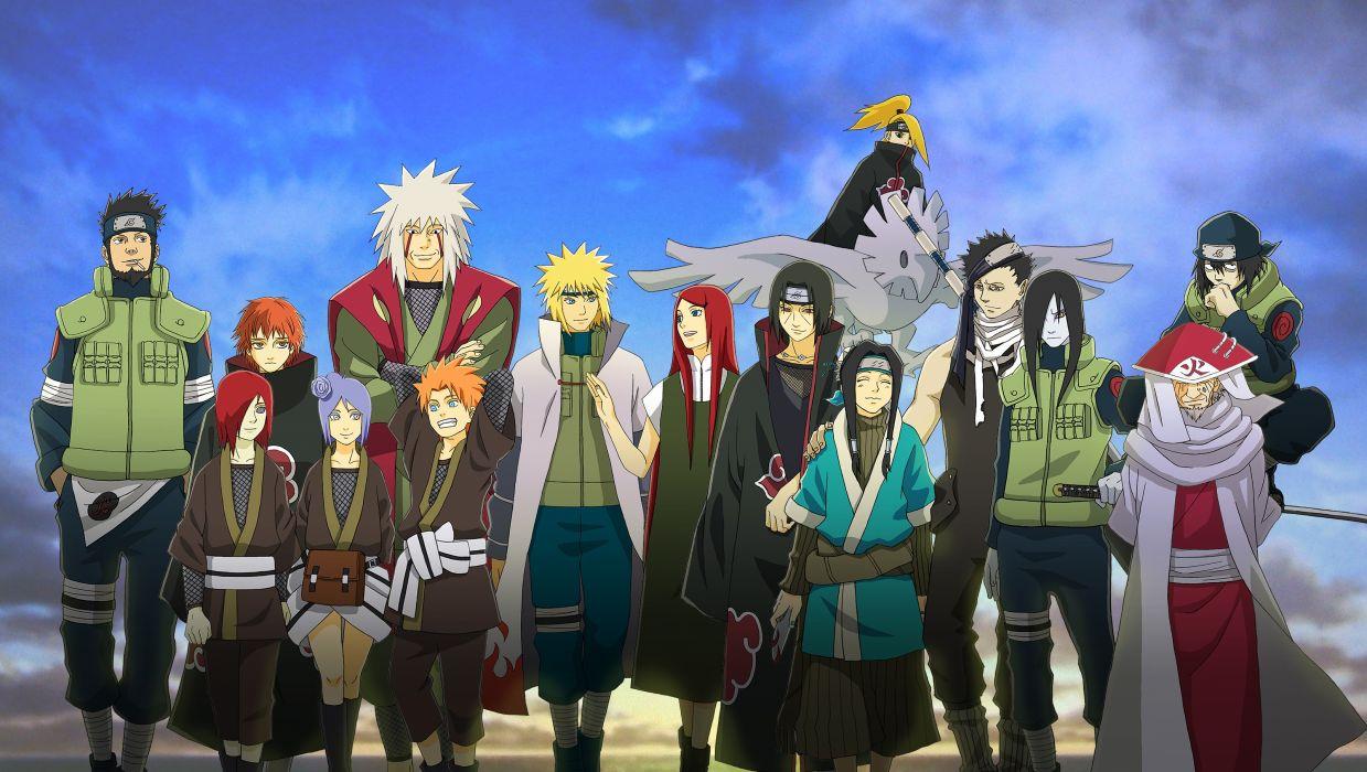 Naruto shippuden uchiha itachi haku headbands anime boys minato namikaze orochimaru konan deidara sasori sarutobi hiruzen uzumaki kushina shinobi anime girls jiraiya nagato (naruto) yahiko sarutobi asuma wallpaper