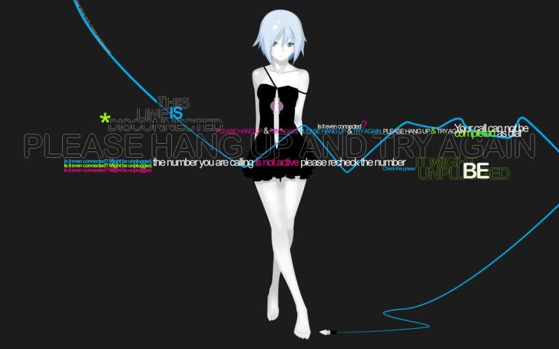 Text miniskirts anime girls wallpaper