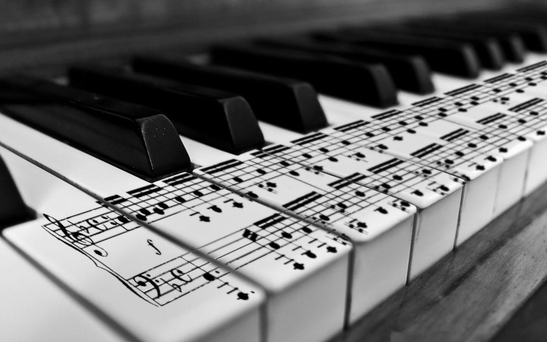 Music piano monochrome wallpaper