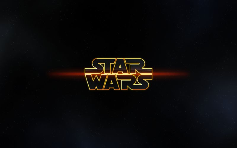 Star wars outer space minimalistic logos wallpaper