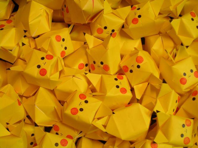 Pokemon origami pikachu wallpaper
