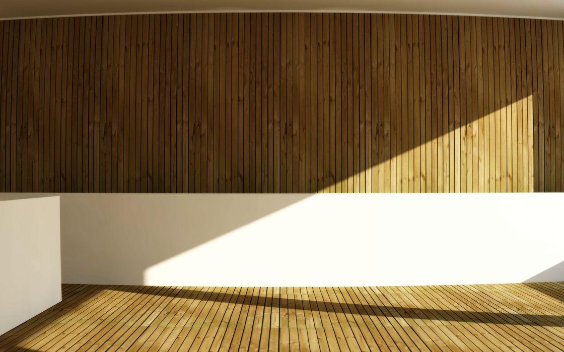 Minimalistic wood room design wallpaper