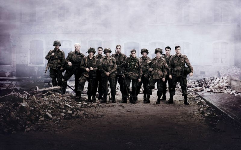 World war ii band of brothers serie tv series debris wallpaper