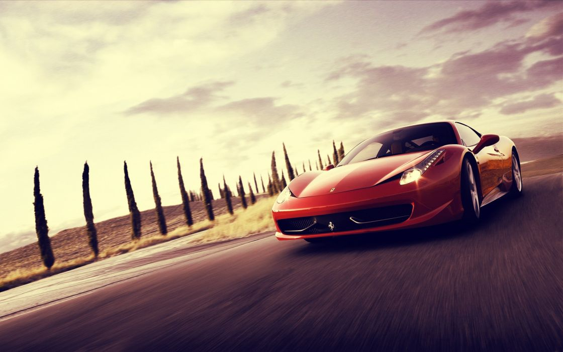 Red cars ferrari vehicles ferrari 458 italia hdr photography wallpaper