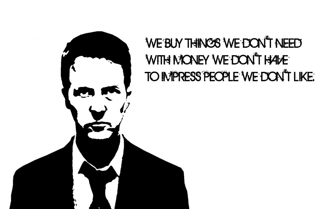 Black and white movies white fight quotes fight club edward norton film tyler durden wallpaper