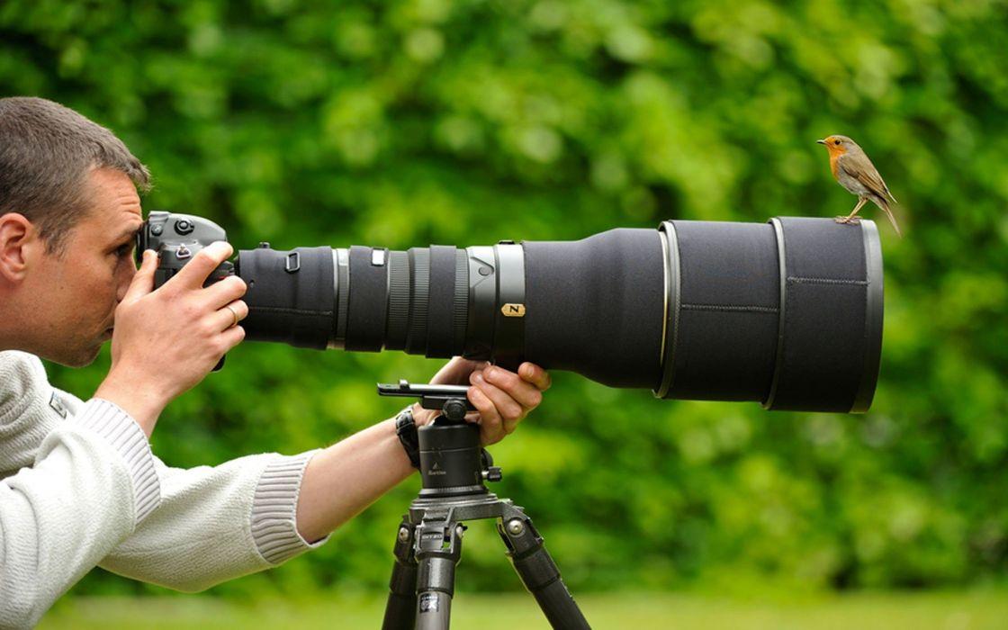 Nature birds men professional photographers photo camera wallpaper