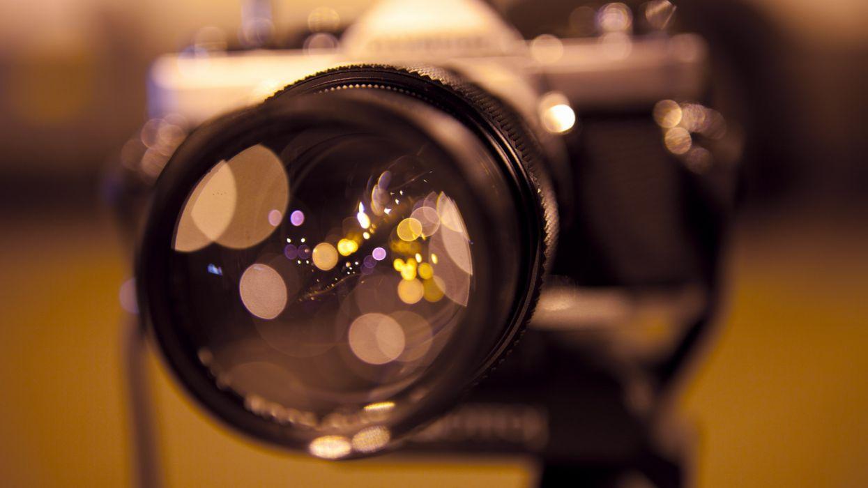 Lights lens macro photo camera wallpaper