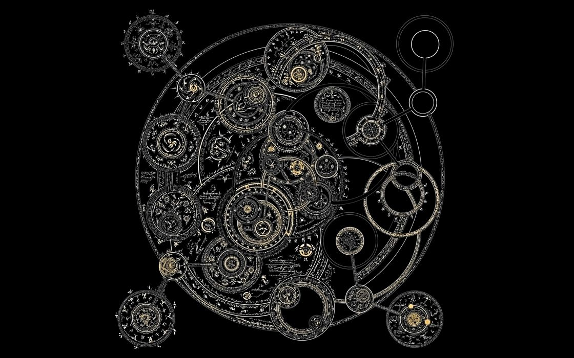 Wizard circles alchemy arcane wallpaper