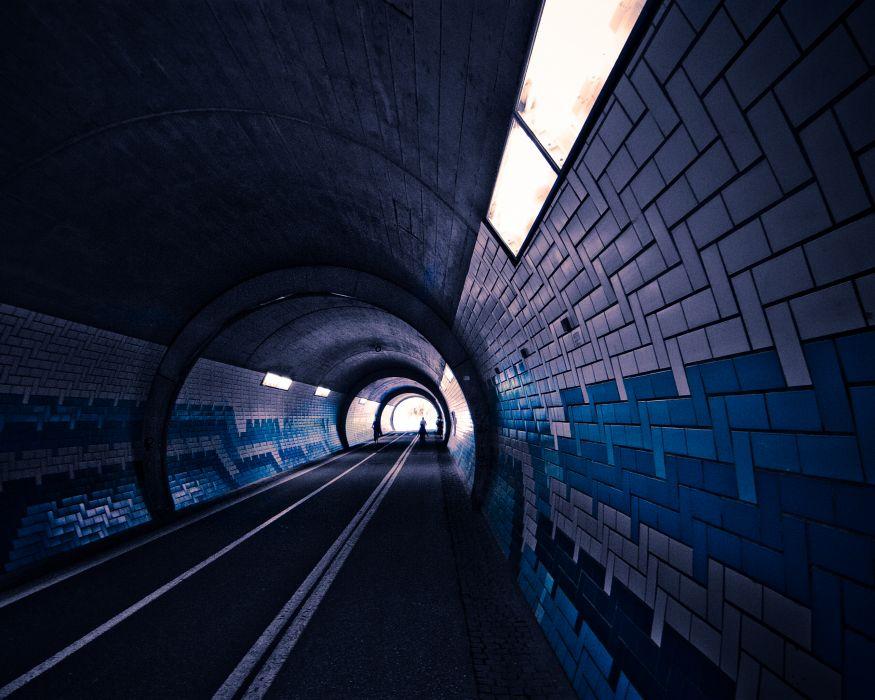 Streets dark cars tunnel wallpaper