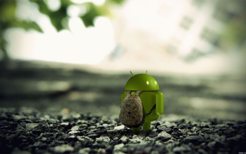 Android 3d render wallpaper