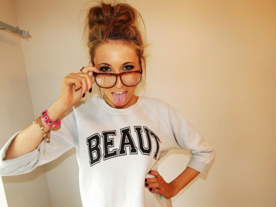 Blondes women girls with glasses dressed wallpaper