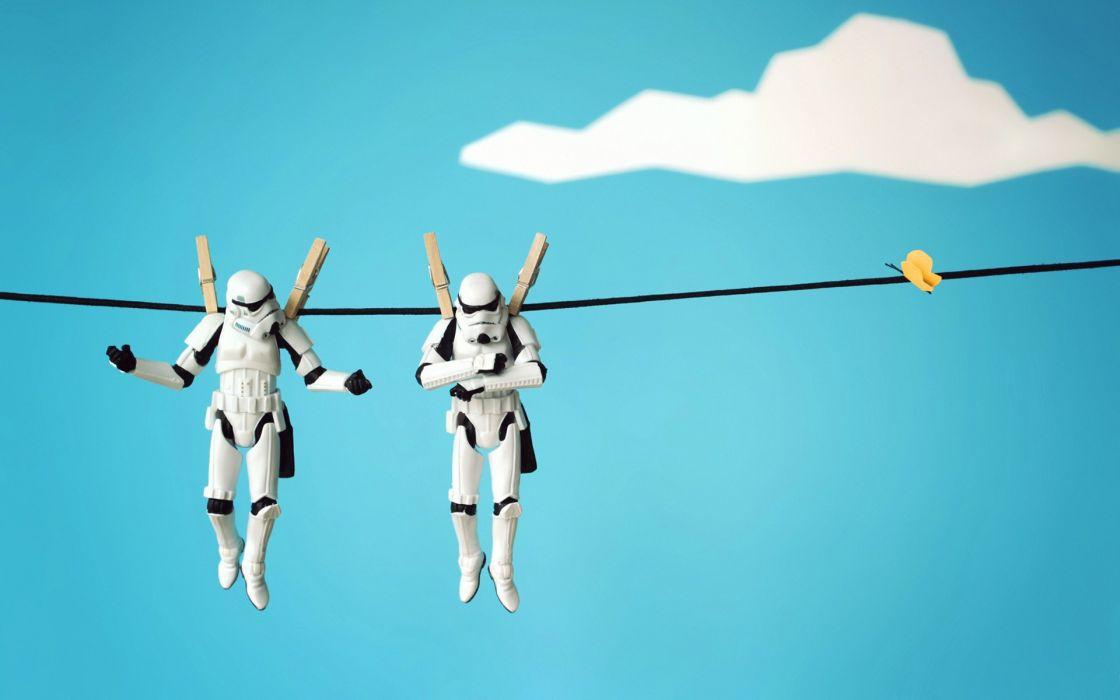 Star wars stormtroopers action figures wallpaper
