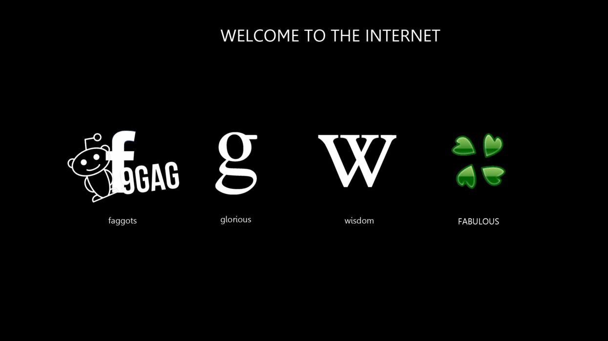 Facebook internet google wikipedia reddit logos black background 9gag 4chan wallpaper