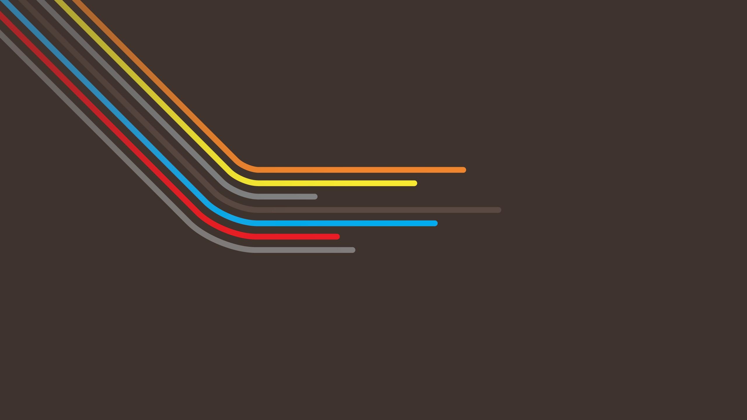 Minimalistic multicolor vector wallpaper | 2560x1440 ...