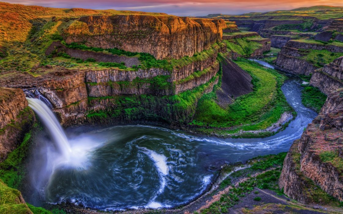 Water nature rocks canyon waterfalls rivers wallpaper