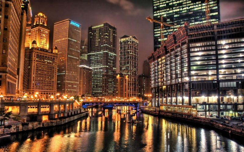 Cityscapes night lights cities wallpaper