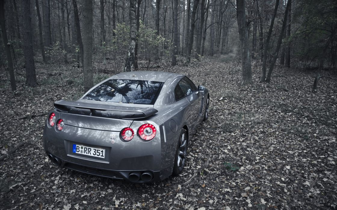 Nature forest cars outdoors nissan jdm nissan gt-r r35 tailight wallpaper