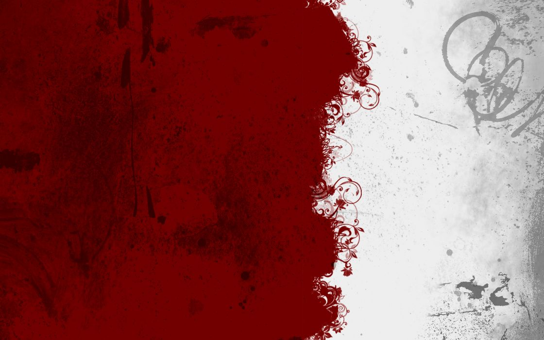 Abstract red white wallpaper