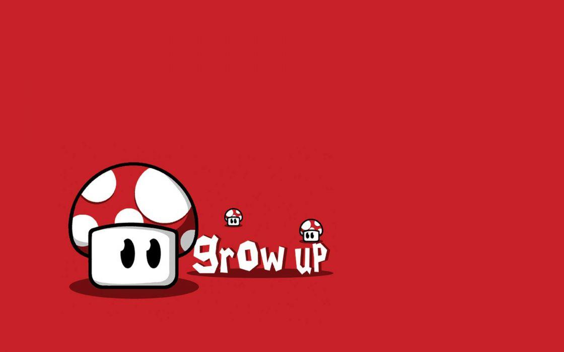 Nintendo mario mushrooms wallpaper