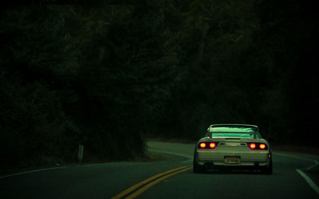 White cars nissan roads backview nissan 200sx nissan 180sx tailight wallpaper
