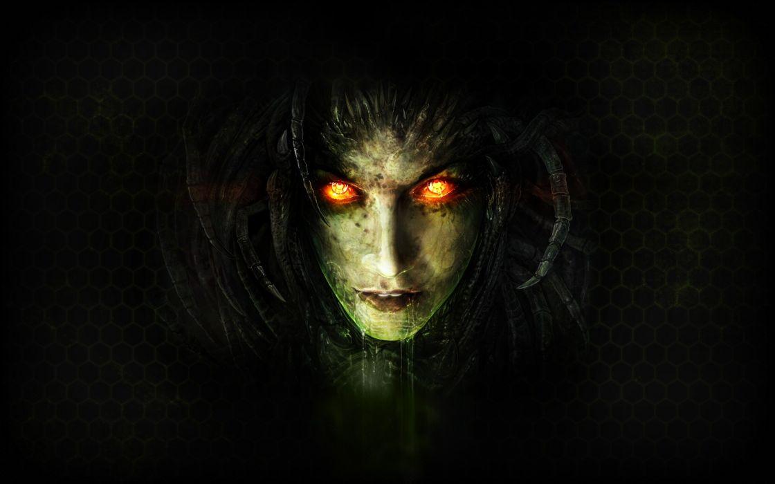 Zerg sarah kerrigan queen of blades starcraft ii wallpaper