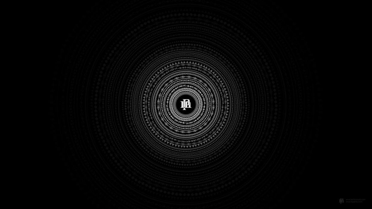 Minimalistic dark circles wallpaper