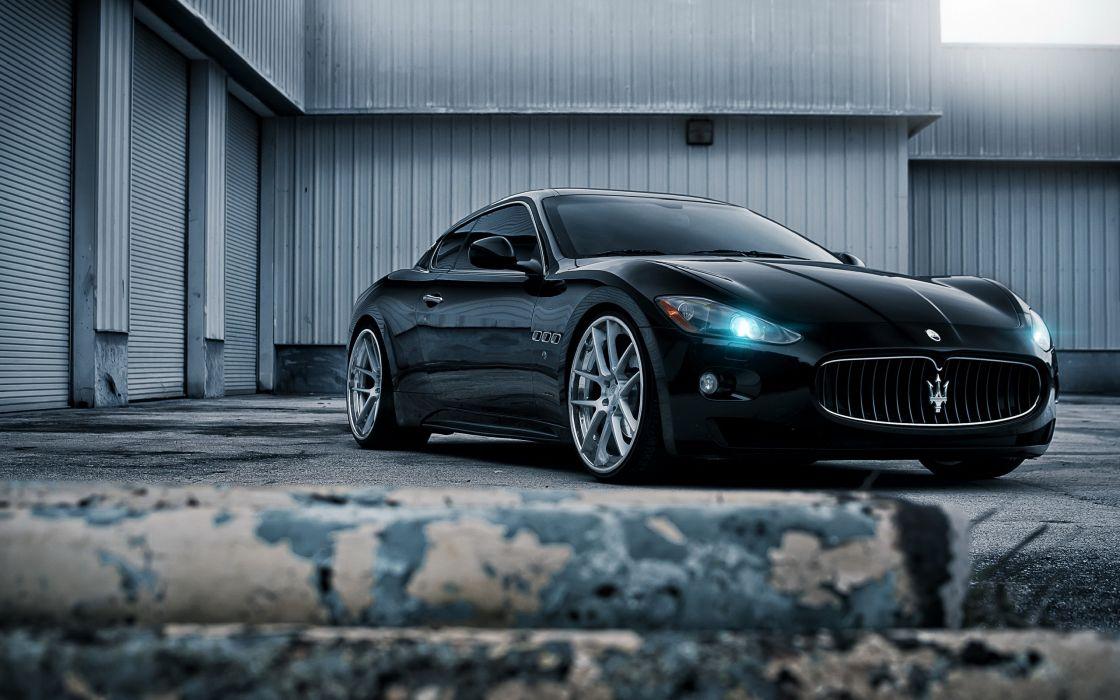Vehicles supercars wheels depth of field courtney cummz maserati granturismo gt black cars wallpaper