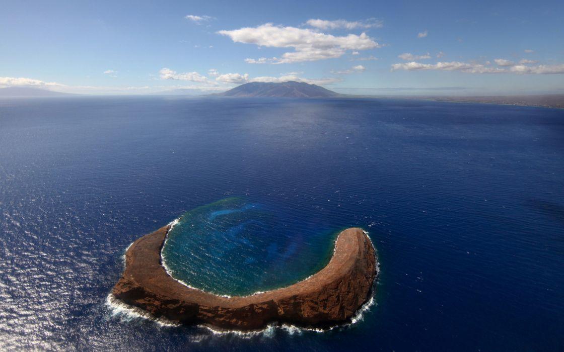 Ocean islands seascapes galapagos molokai wallpaper