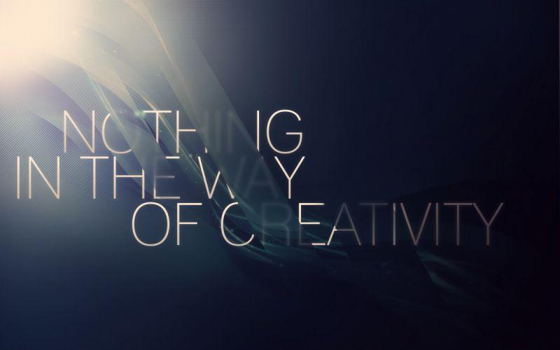 Abstract typography slogan wallpaper