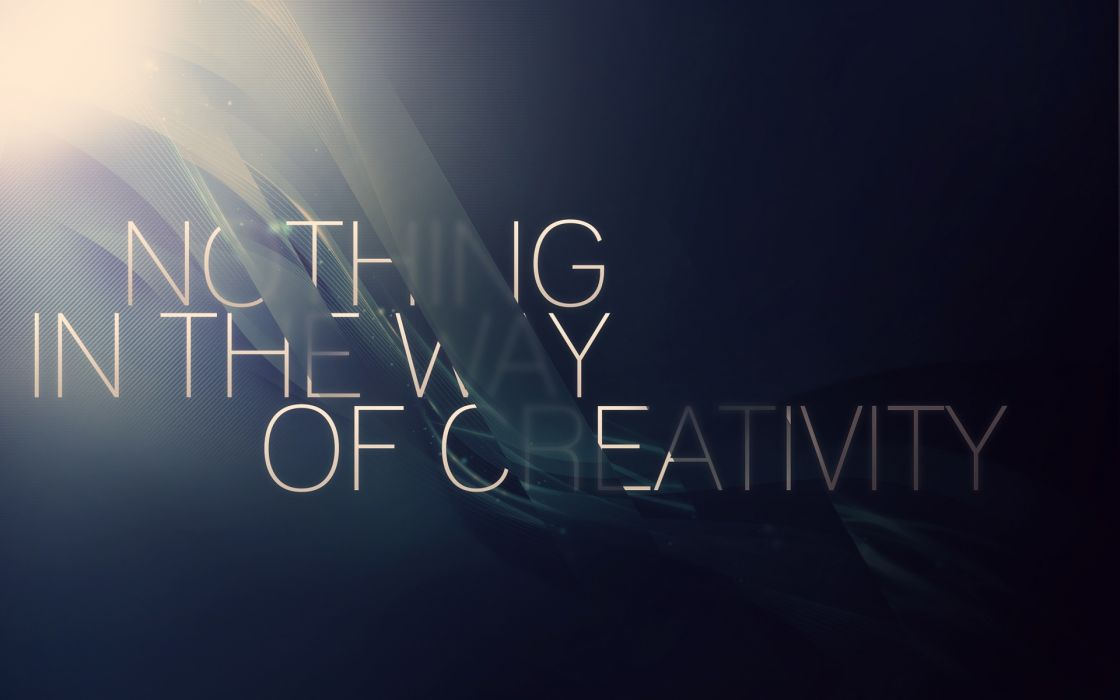 Abstract typography slogan wallpaper