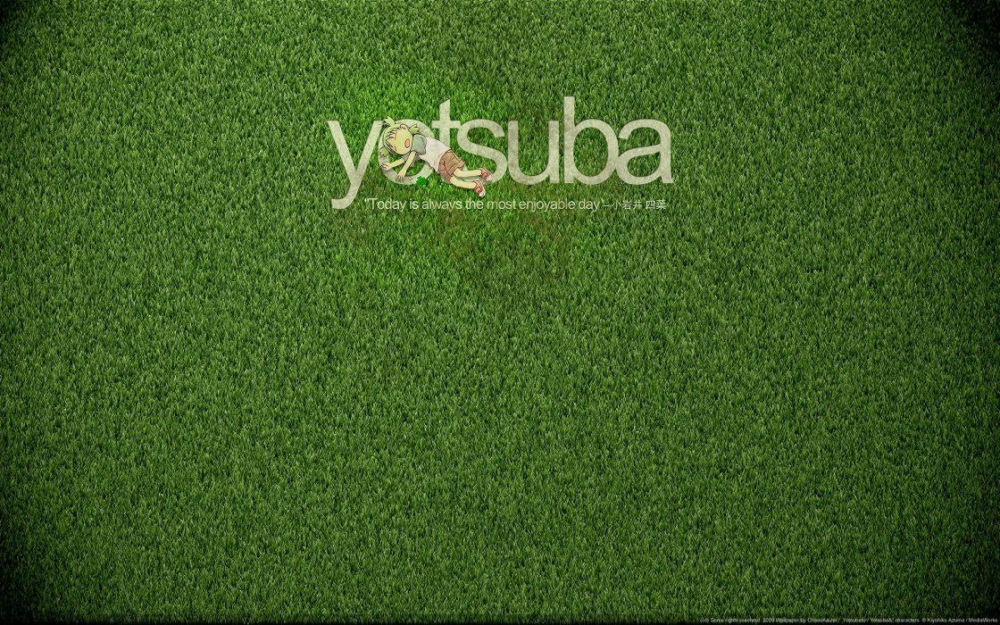 Text quotes grass yotsuba wallpaper