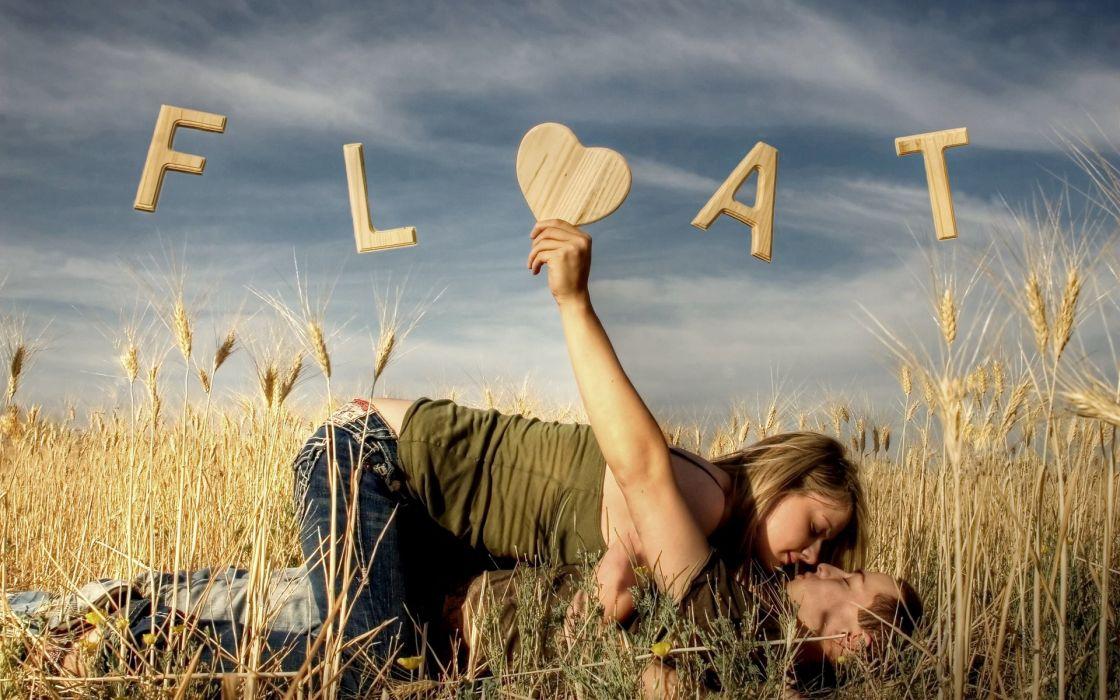 Love meadow ray hearts wallpaper