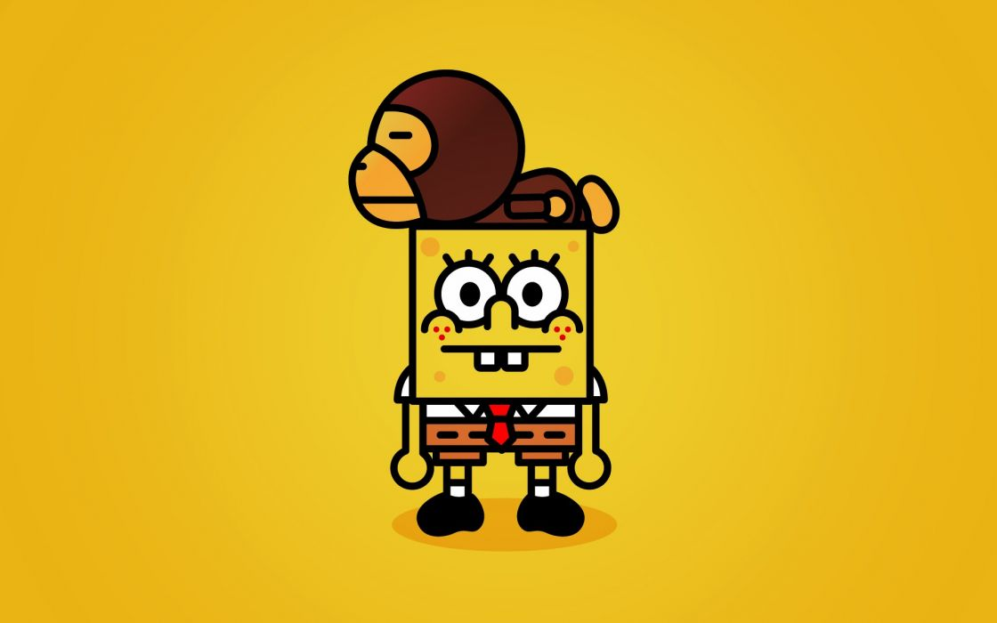 Minimalistic spongebob squarepants simplistic wallpaper