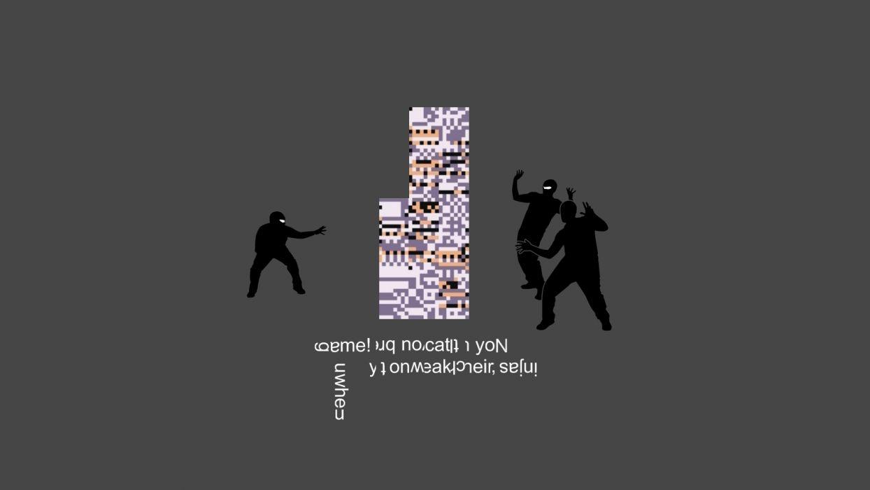 Pokemon ninjas ninjas cant catch you if missingno wallpaper