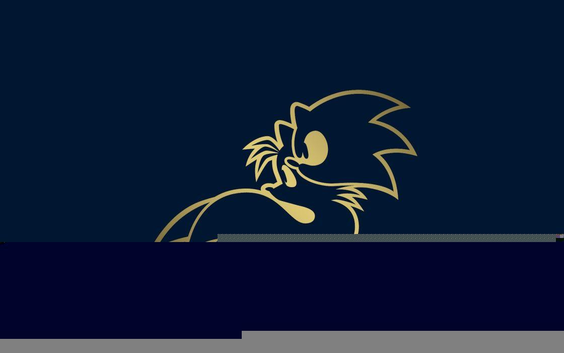 Sonic the hedgehog video games minimalistic sonic wallpaper