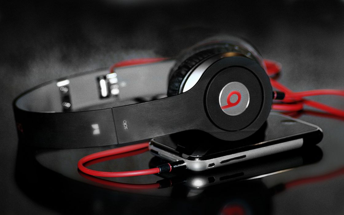 Headphones music iphone dr dre apples beats audio wire wallpaper