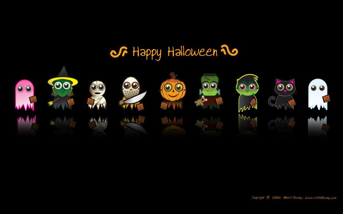 Cartoons halloween black background wallpaper