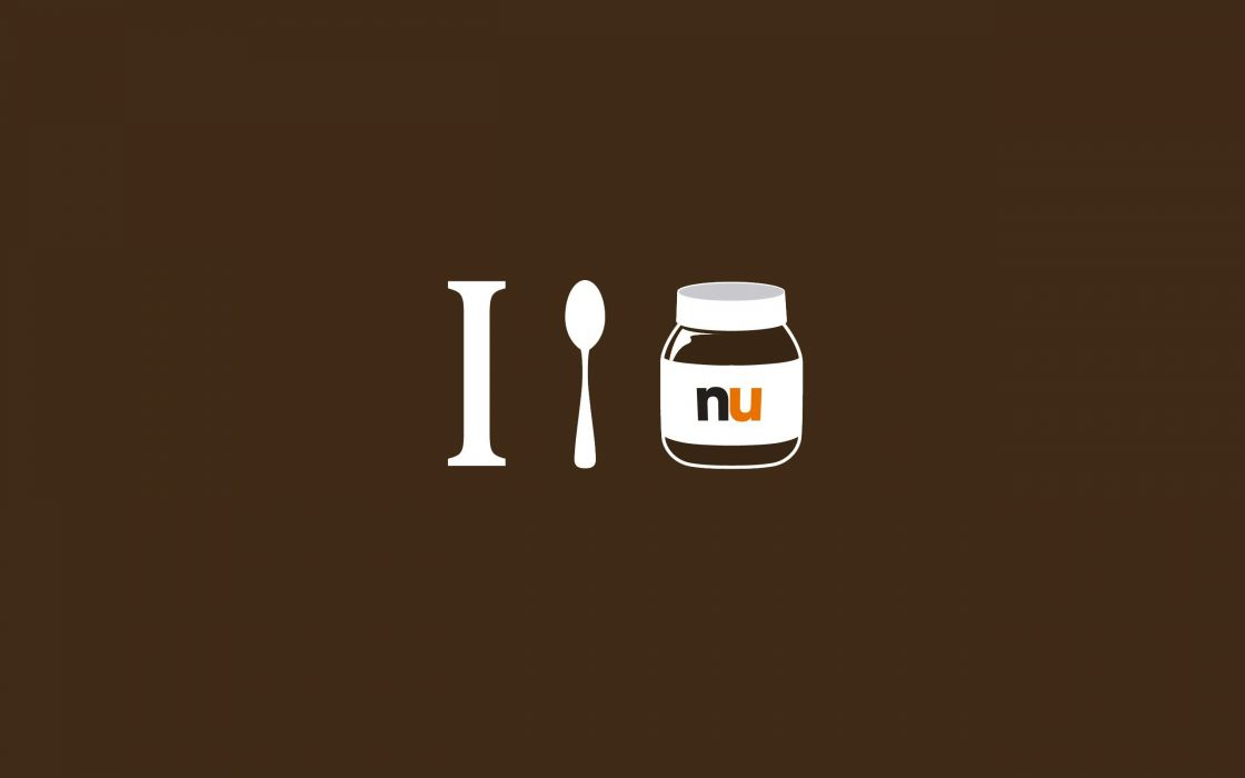 Minimalistic simplistic nutella ekA wallpaper