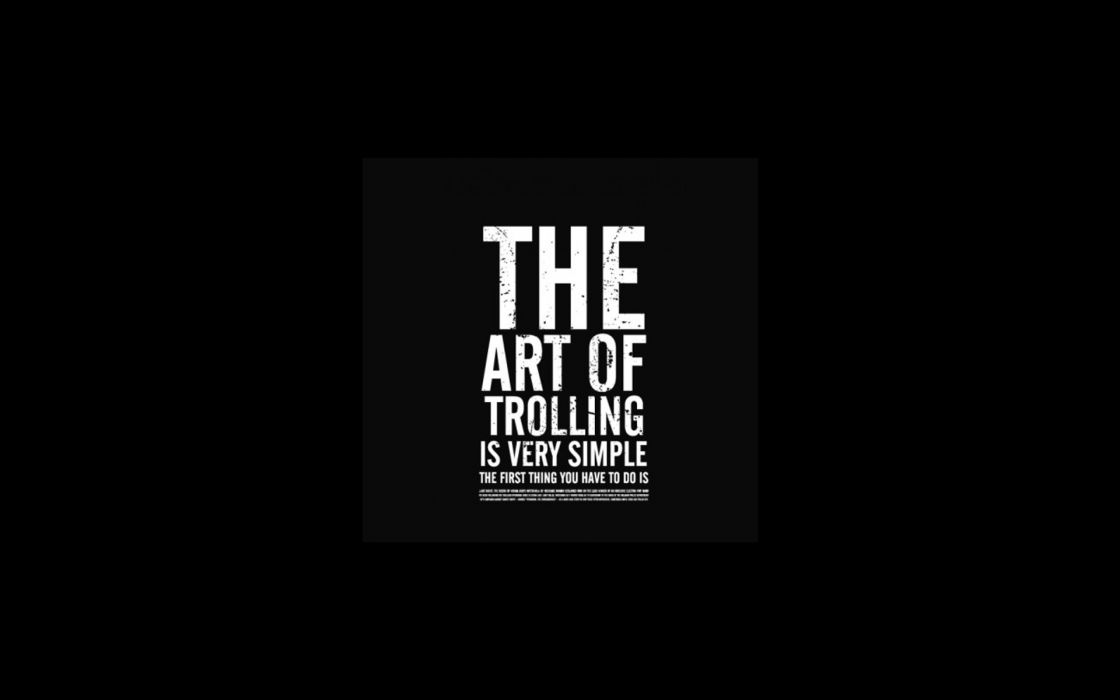 Text humor funny typography trolling artwork black background wallpaper