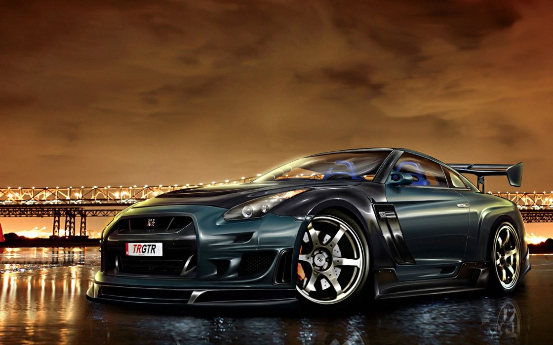 Cars supercars tuning nissan gt-r wallpaper
