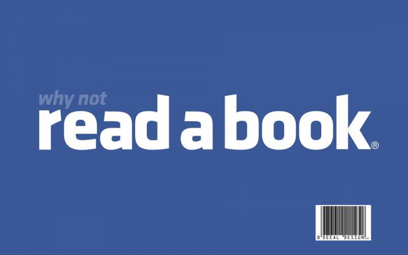 Facebook wall reading books wallpaper