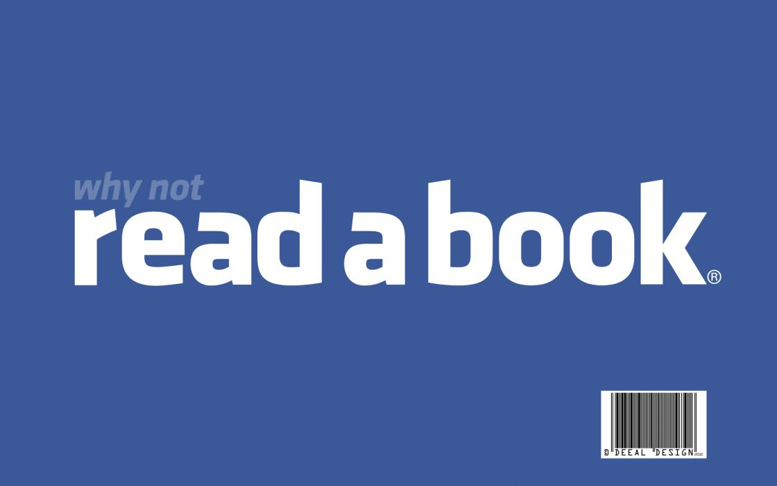 Facebook wall reading books wallpaper