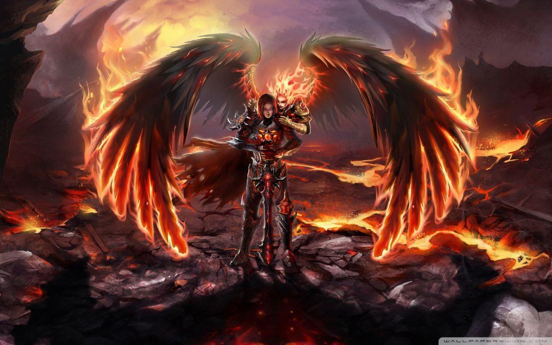 Fireworks heroes heroes of might and magic swords dark angels wallpaper