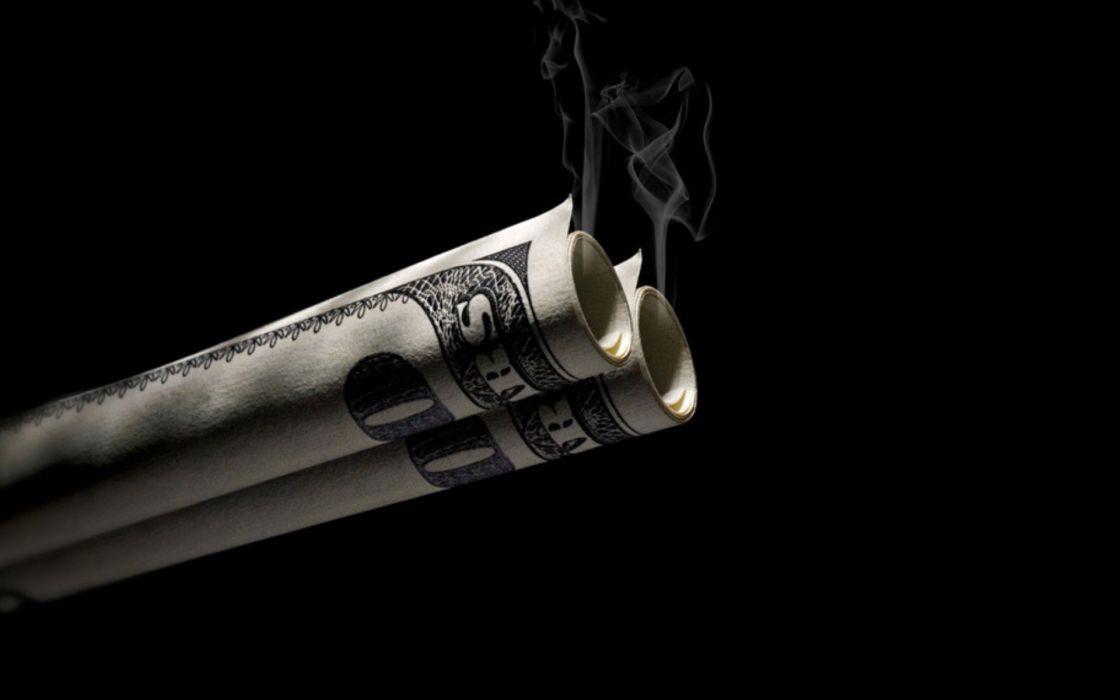 Smoking money wallpaper