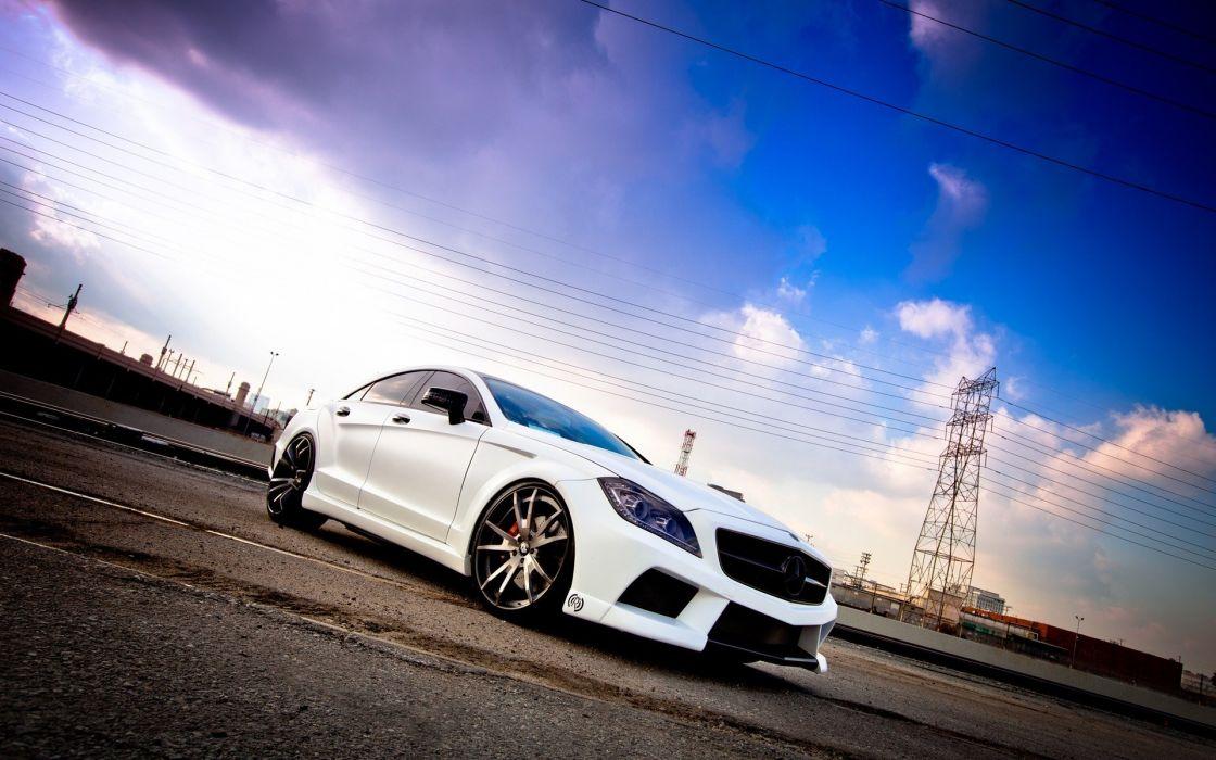 Cars white cars mercedes-benz cls-class mercedes-benz wallpaper